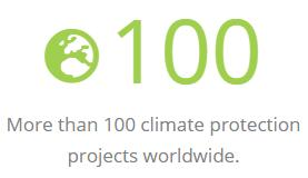 More than 100 climate protection projects worldwide.