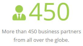 More than 450 business partners from all over the globe.